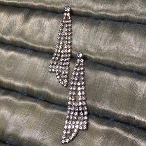 Vintage Long Glamour Dangle Earrings